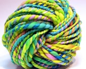 Beyond super bulky handspun rainbow yarn in hand dyed merino wool - 50 yards, 4.6 ounces