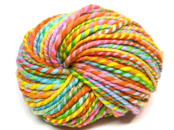 50 yards super bulky rainbow yarn in hand painted merino wool -  2.7 ounces/ 77 grams