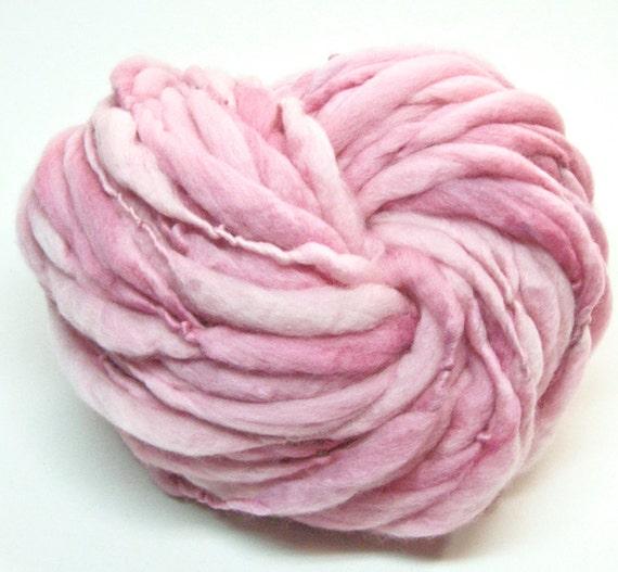 Beyond super bulky thick and thin handspun merino yarn - 47 yards, 3.4 ounces/ 97 grams