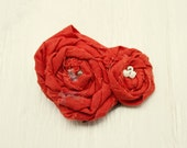 Faded Rose hair clip or pin