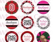Ohio State Buckeye Inspired Collage Sheet