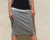 Everyday Pencil Skirt-Heather  Gray