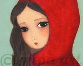 Large Print - Gretka in Red Jacket -  A3 Format - 11x16 inches