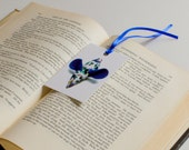SALE : 50% OFF Vintage Blue Mouse Bookmark