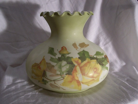 "7"" Yellow Rose Student Glass"