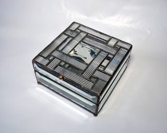 Square Weave Crystal Box