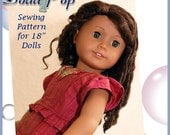 """Dollhouse Designs Stylish Peplum Sewing Pattern for 18"""" Dolls 1 or 2-pc Dress Skirt Top Clothes DIGITAL DOWNLOAD"""
