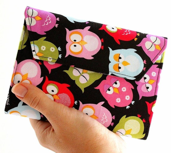 Children art toy crayon wallet Sleepy Owls - Stocking Stuffer for Kids