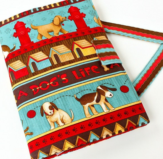 SALE - Dog Life Crayon Artist Case, Art wallet, Crayon bag, Kids travel art toy, Creative kids toy, Crayons and paper pad included