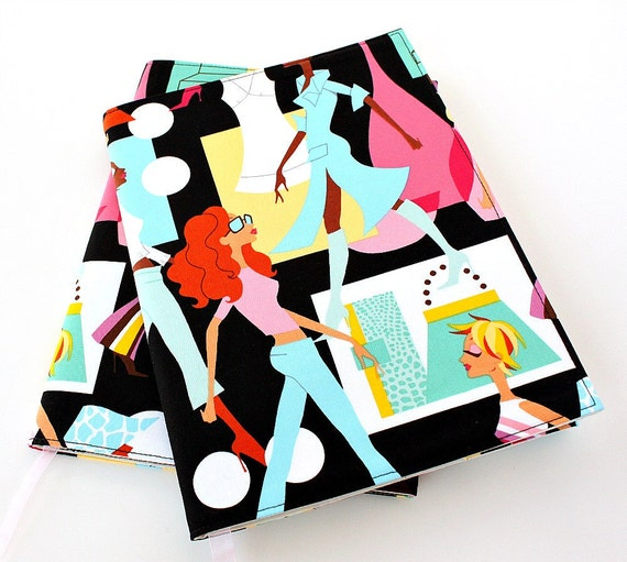 Sale - Fabric journal cover for composition notebooks - Fashionista
