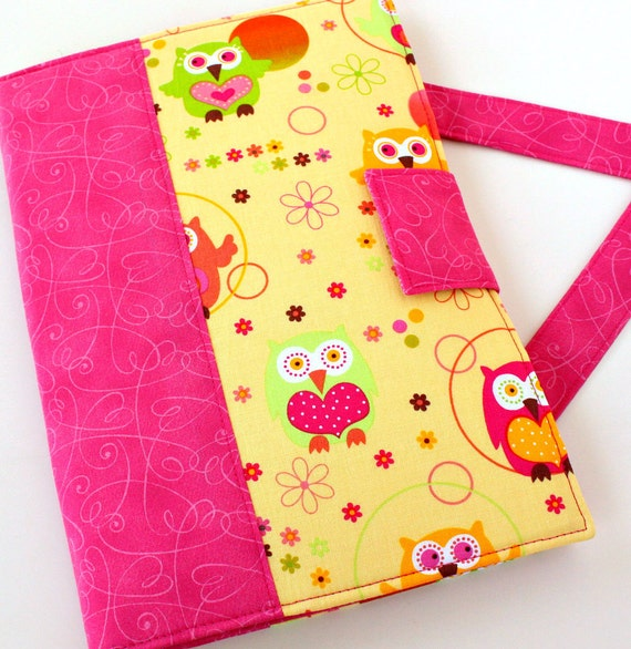 Crayon bag - kids activity toy - Lovely Owls (LAST ONE)