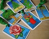 Large Tags of Trees and Flowers in Spanish Recycle