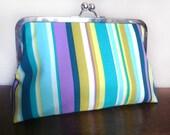 Retro Clutch - Striped Bag - Bridesmaids Gift