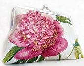 Peony Flower Wedding Clutch Purse Bag Clutch Bridesmaid Gift Handbags Clutch Party Wedding