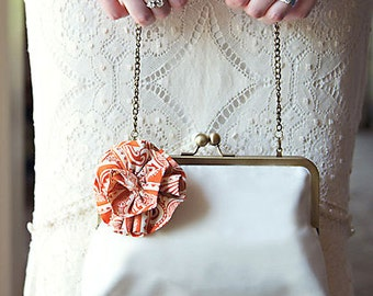 Luxury Internal Chain Clutch Bridesmaid Gift by Lolis Creations