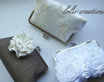 Bridal and Bridesmaids Clutches Bridesmaids Custom Purses Bags Party Bridesmaid - Bridesmaid Purse - Bridesmaid Gifts - Wedding Purse