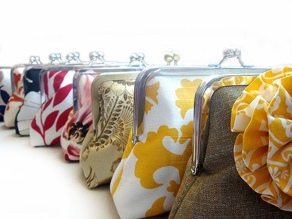 Bridesmaids Gifts Custom Purses Bags Wedding Clutches Bridesmaid Clutches Bridal Party
