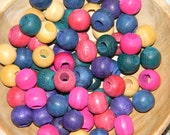 Reclaimed Vintage Painted Wooden Beads