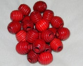 Vintage Red Wooden Beehive Beads