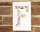 F is for... (11 x 17 Letter F Poster)