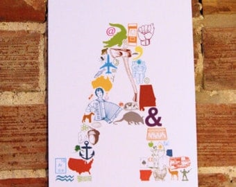 A is for... (11 x 17 Letter A Poster)