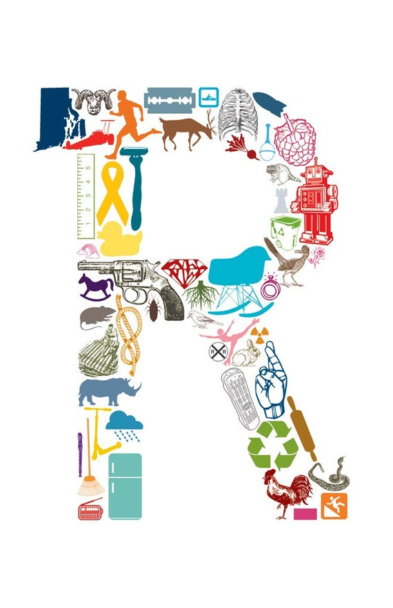 R is for... (11 x 17 Letter R Poster)