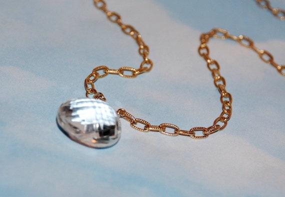 Crystal Quartz Necklace - Large Gemstone Pendant - Clear Natural Stone - Bridal Jewelry - Wedding