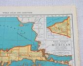 Vintage Map of Michigan- 11x14