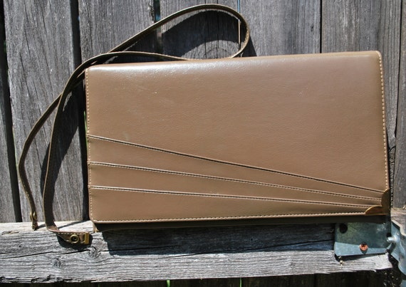 Vintage Purse and Clutch with Gold Metal Details