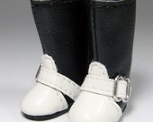 Retro Contrast Black-White Boots for Lati Yellow, PukiFee S00022A