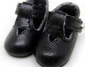 Black School Shoes for Tiny BJD, Lati Yellow, PukiFee, Riley Kish, Bobobie Nissa, DIM Silf, Dollk S00021A