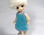 Blue Felt Dress for Brownie C00028C