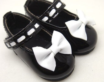 Bow Black Mary Janes for YO-SD S00006D