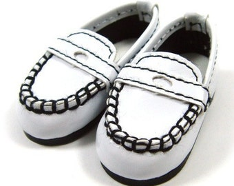 White Boat Shoes for YO-SD, LittleFee, Petite Ai, Ange Ai S00024B