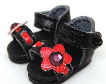 Black Flower Sandals for Lati Yellow, PukiFee, Riley Kish, DIM Silf S00016A