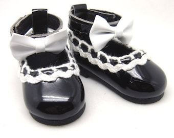 Black Lolita Shoes for YO-SD, LittleFee, Petite Ai, Ange Ai, Ciao Bella S00007D