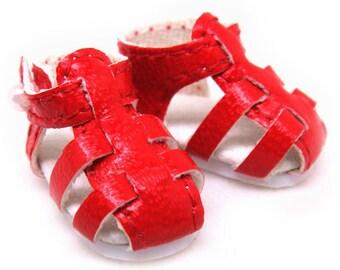 Red Strappy Sandals for Lati Yellow, PukiFee, Riley Kish, DIM Silf, Dollk S00003F
