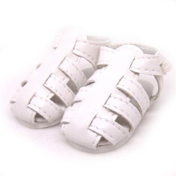 White Strappy Sandals for YO-SD, LittleFee, Ange Ai, Ciao Bella S00037B