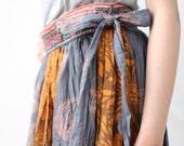 Ocean glass...100 percent cotton full length wrap skirt