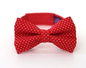 Boy's Bow Tie - Red Polka Dot - Red and White Pin Dot Bowtie