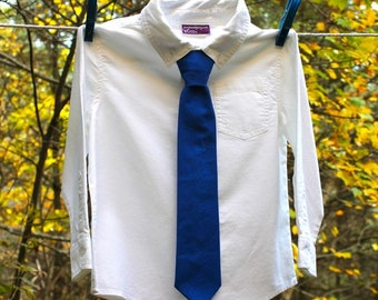 Baby Boy's Tie - Royal Blue Solid - any size boys necktie