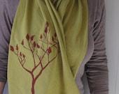 SALE-Organic Cotton Jersey Scarf- Olive