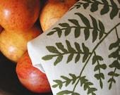 Fern Tea Towel- Organic Linen