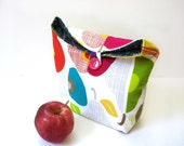 Lunch tote bag eco friendly reusable apples modern insulated multi colored