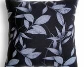 Black Gray Decorative Throw Pillow Case 16 in LEA DESIGN
