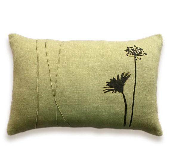 Herb Print Decorative Lumbar Pillow Cover 12x18 inch SELAH DESIGN