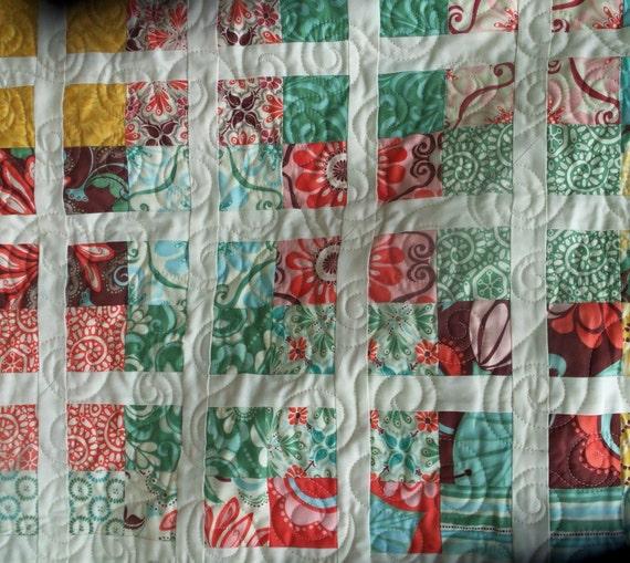 Fandango Four Patch Lap Quilt