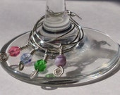 Spring Wine Glass Charms- Set of Four