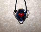 Blue Red Heart Bottle Pendant