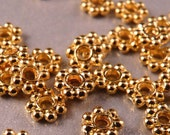 Gold Spacers 100 4mm Shiny Gold Daisy Spacers Gold Findings